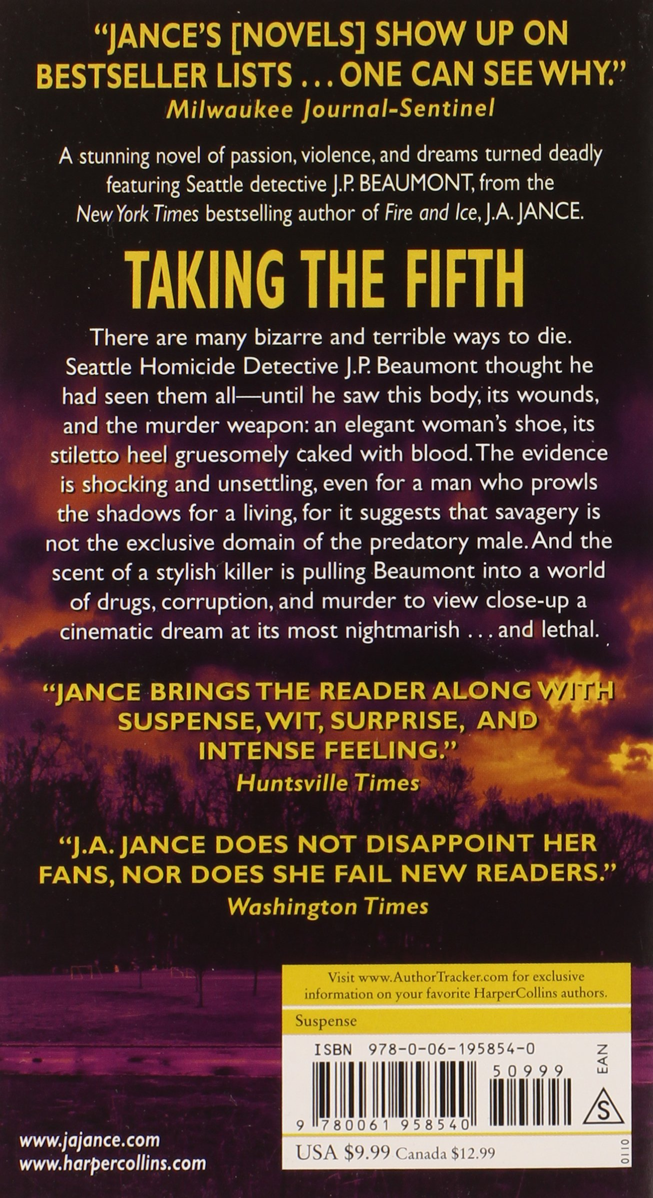Taking The Fifth (j P Beaumont Novel): J A Jance: 9780061958540:  Amazon: Books