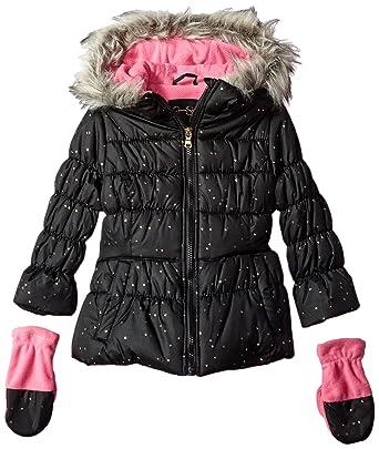 632828cdf Amazon.com  Jessica Simpson Girls  Little Cozy Trimmed Hooded Jacket ...