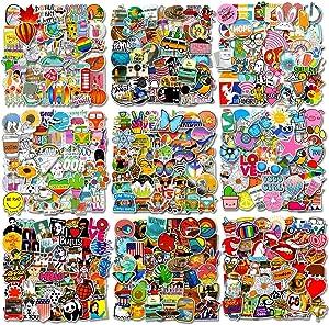 550-Pcs INS Fashional Stickers (500-Pcs Big and 50-Pcs Mini Stickers), Fast Shipped by Amazon. Cute Aesthetic Stickers for Teens. Waterproof Stickers for Water Bottle, Phone,car,Motorcycle,Bike