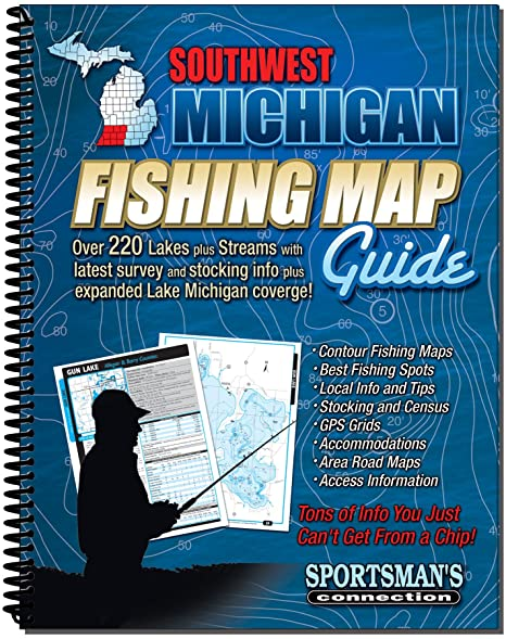Amazon Com Southwestern Michigan Fishing Map Guide Fishing