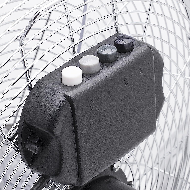 Met/álico Tristar VE-5885 Gris 50 cm Ventilador de suelo con circulador de aire