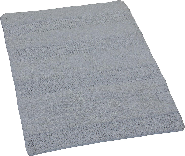 Castle Hill 100/% Cotton Chenille Shaggy Bath Rug with Spray Latex Backing 20x30 White CH-BR-20-X30-CSHAG-WH