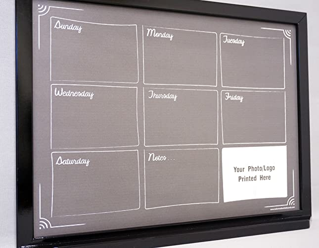 large framed chalkboard calendar dry erase board weekly planner one week