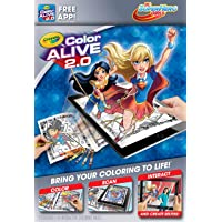 Crayola DC Super Hero Girls Color Alive 2.0 Interactive Coloring Book, Crayons and Mobile App Set
