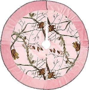 Carstens Realtree Pink AP Camo Christmas Tree Skirt