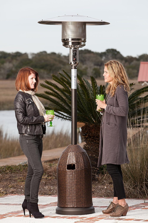 Amazon.com : Fire Sense All Weather Wicker Patio Heater : Portable Outdoor  Heating : Garden U0026 Outdoor