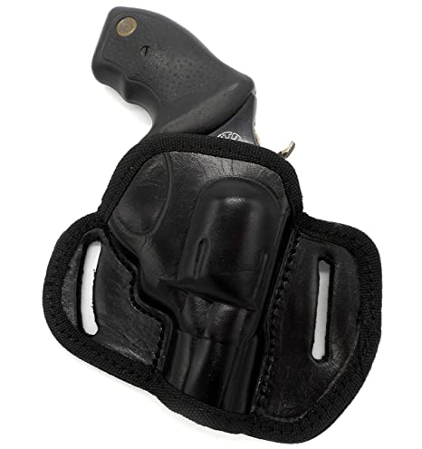 CEBECI ARMS Black Leather Open Top RIGHT HAND Belt Holster for SMITH &  WESSON S&W J-FRAME REVOLVER (1-7/8