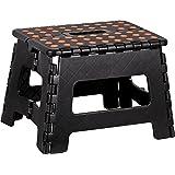 Kigima tabouret banqueta plegable en plastique petit 29x22x22cm noir