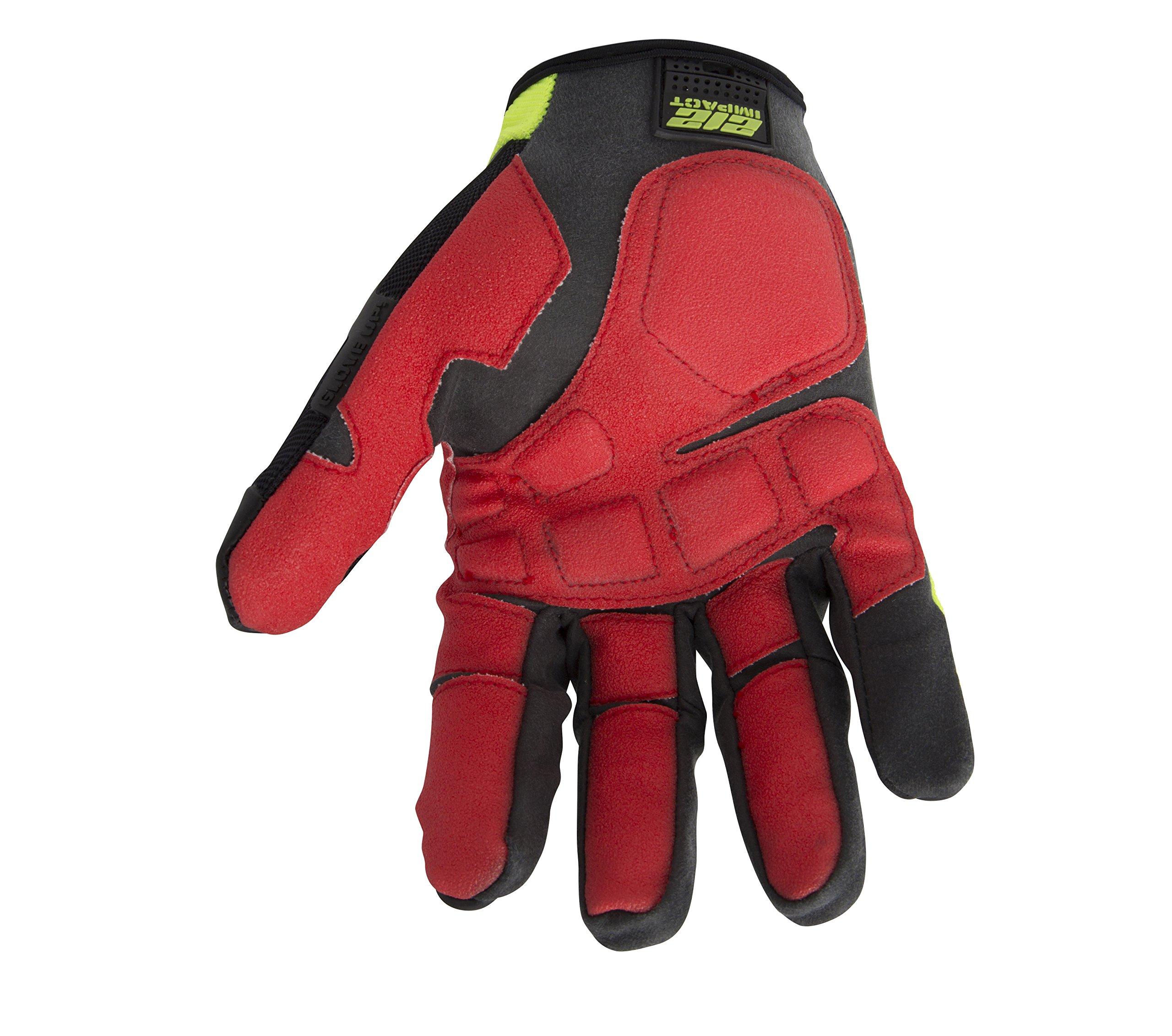 212 Performance Gloves IMP-88-009 Super Hi-Vis Impact Gloves, Medium by 212 Performance Gloves (Image #2)
