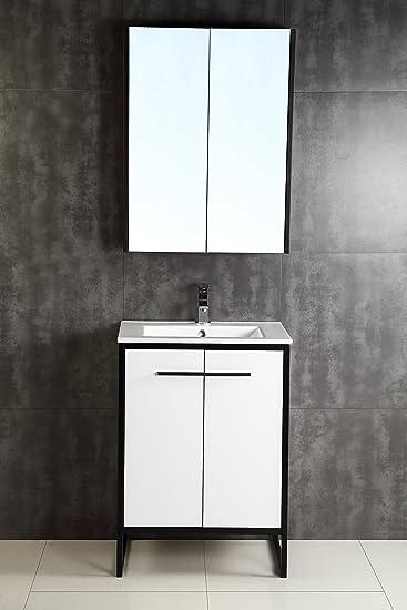 Fine Fixtures Vdara 24u0026quot; Bathroom Vanity Cabinet Set ...