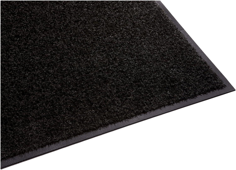 Black 6'x9' Guardian Platinum Series Indoor Wiper Floor Mat, Rubber with Nylon Carpet, 2'x5', Brown