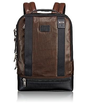 Amazon.com | Tumi Alpha Bravo Dover Leather Backpack, Dark Brown ...