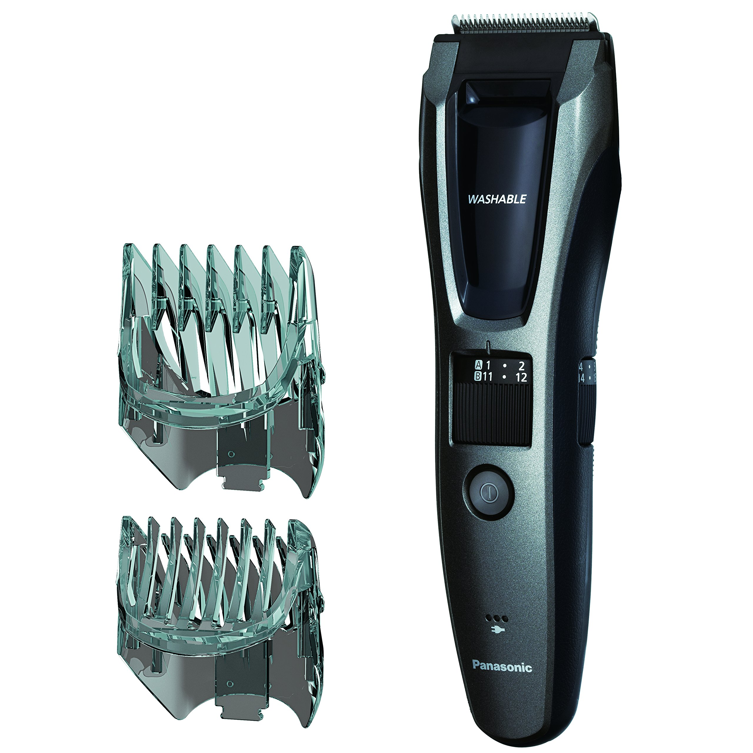 Panasonic Hair and Beard Trimmer, Men's, with 39 Adjustable Trim Settings and Two Comb Attachments for...