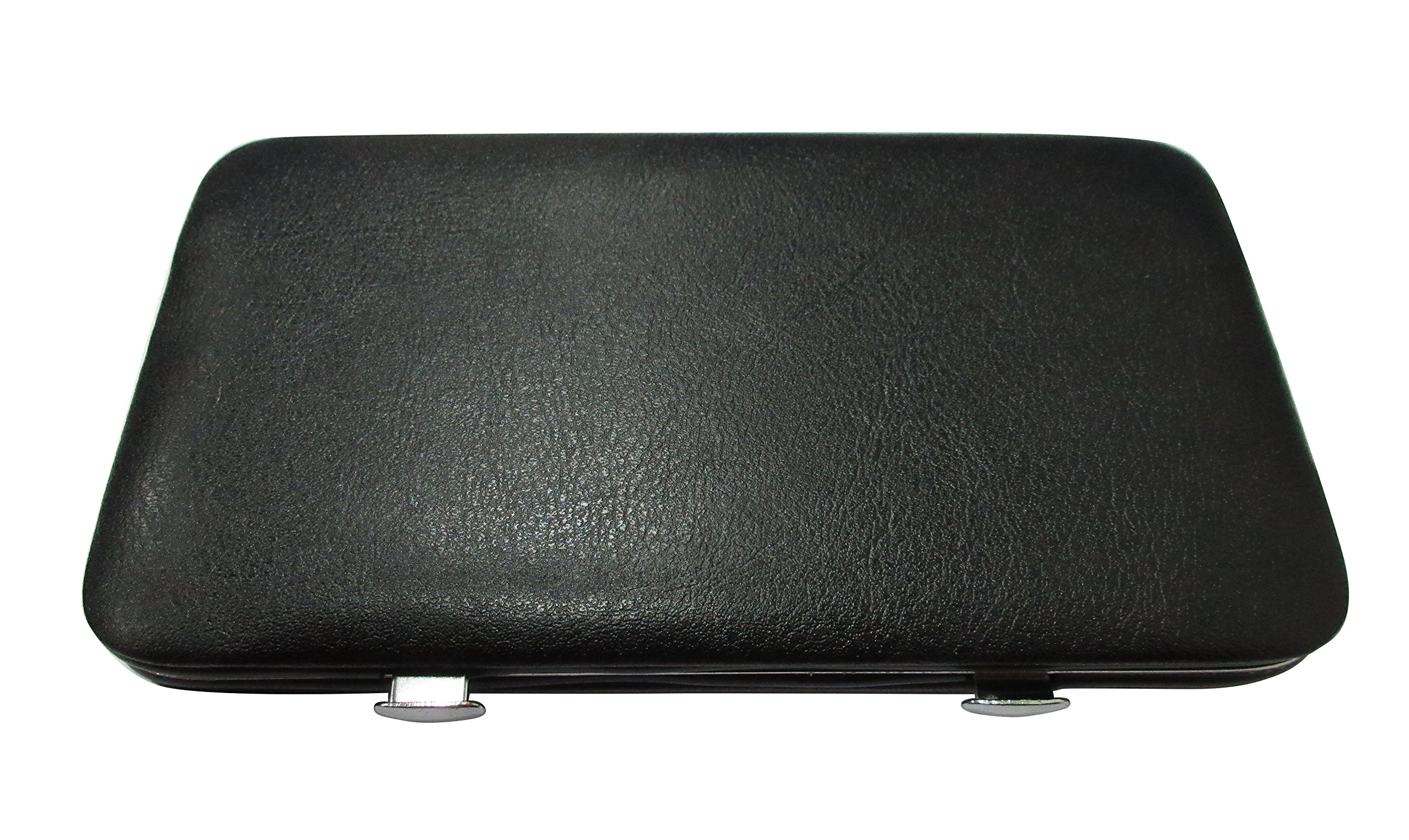 Oveelando Backgammon Magnetic Game Travel Case Outside with Black Leatherette for Kids and Family