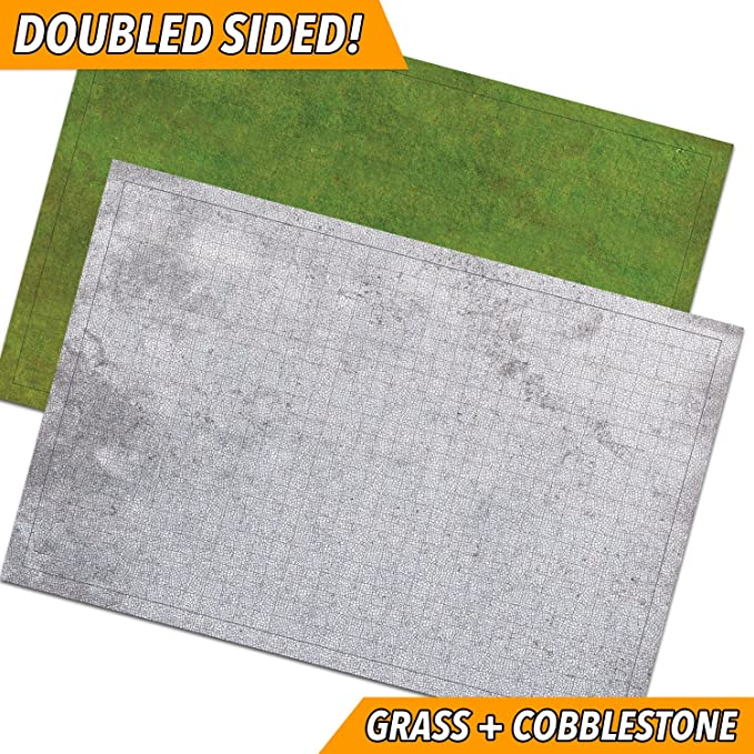 RPG Battle Game Mat - 2 Pack Dry Erase Double sided 36