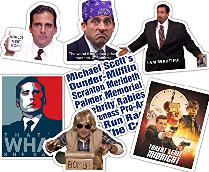 The Office Stickers   Sticker Set Best Of Michael Scott   Dunder Mifflin