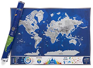 Scratch discover platinum map a1 high quality scratch off world scratch discover platinum map a1 high quality scratch off world map with easy gumiabroncs Image collections