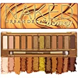 Urban Decay Naked Honey Eyeshadow Palette, 12 Golden Neutral Shades - Ultra-Blendable, Rich Colors with Velvety Texture - Set