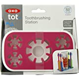 OXO Tot Toothbrushing Station, Pink (Discontinued by Manufacturer)