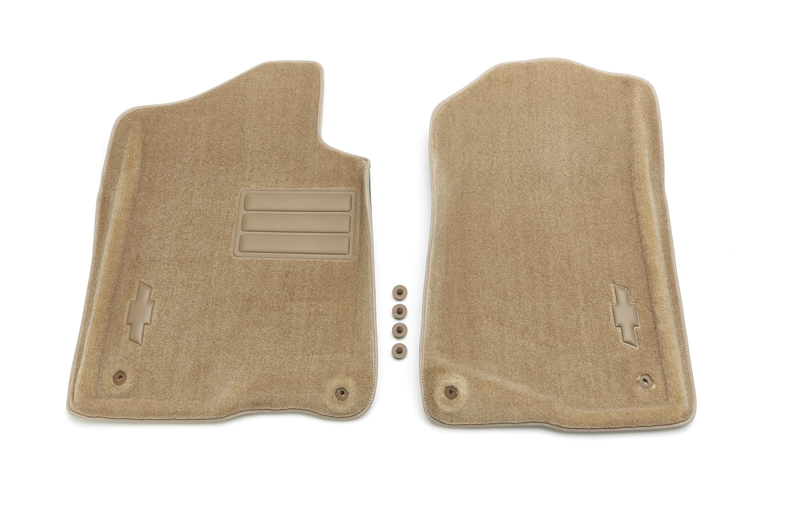 GM Accessories 19157338 Front Carpeted Floor Mats in Cashmere with Bowtie Logo