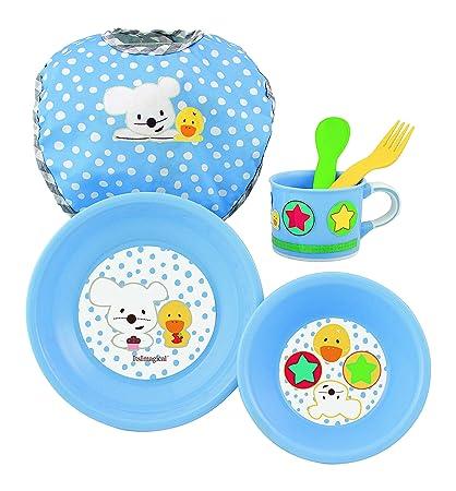 itsImagical Vajilla Infantil para microondas de Color Azul ...