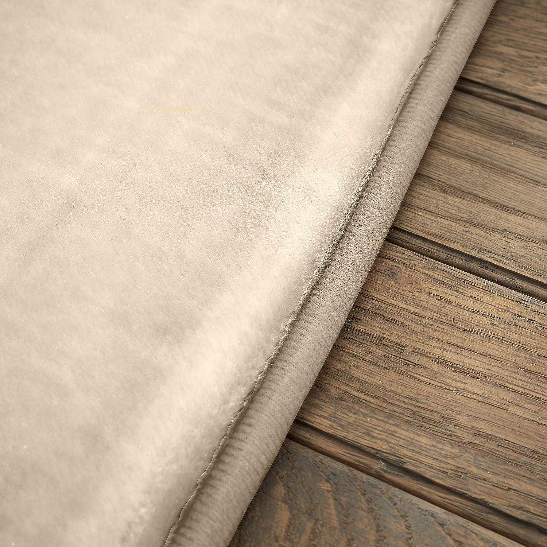 Color Crema Extra Morbido e soffice 120 x 170 cm Gaveno Cavailia Velvet rug Alta qualit/à Antiscivolo Panna Ideale per Soggiorno e camere da Letto in Velluto Tappeto Naturale 100/% Poliestere