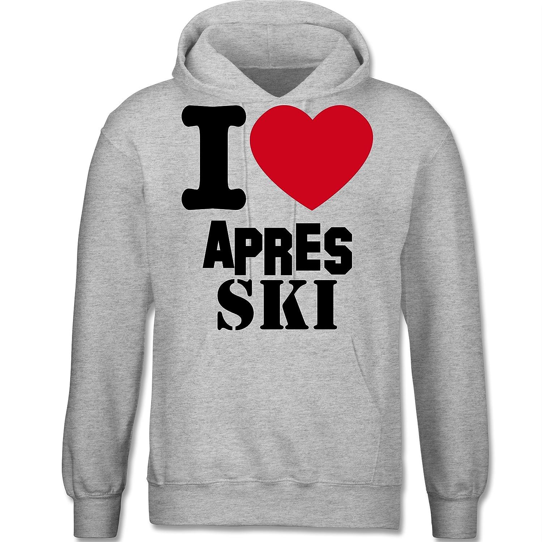 Après Ski - I Love Apres Ski - langärmeliger Herren Kapuzenpullover / Hoodie