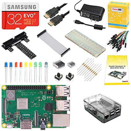 Image result for CanaKit Raspberry Pi 3 B+ (B Plus) Ultimate Starter Kit (32 GB Edition, Clear Case)