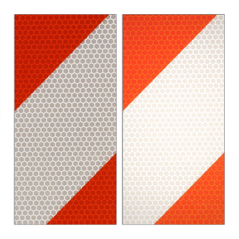 2 en 1 Aluminio 1 Ud Se/ñalizaci/ón Carga Saliente Se/ñal Portabicicletas Rojo-Blanco 50x50cm Relaxdays 10029469 Placa v20