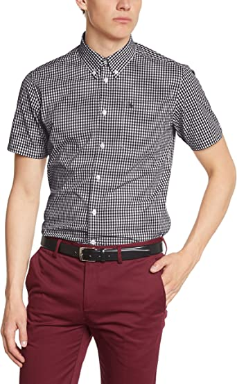 Merc of London Terry, Shirt, Short Sleeve Camisa para Hombre: Amazon.es: Ropa y accesorios