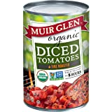 Muir Glen Canned Tomatoes, Organic Diced Tomatoes, Fire Roasted, No Sugar Added, 14.5 Ounce Can