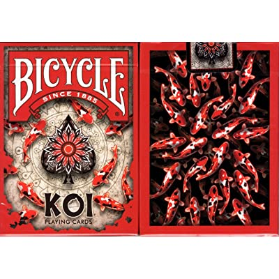 Koi Fish Bicycle Playing Cards Poker Size Deck USPCC Custom Limited Edition: Toys & Games