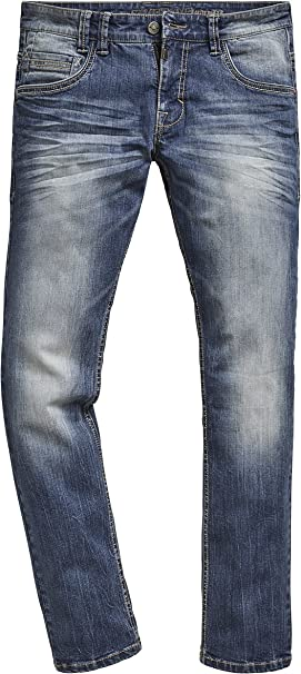 Timezone Men's Regular Gerrittz Straight Jeans: Amazon.co.uk