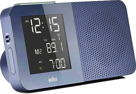 Braun BNC010BL-RC - Reloj radio despertador digital azul