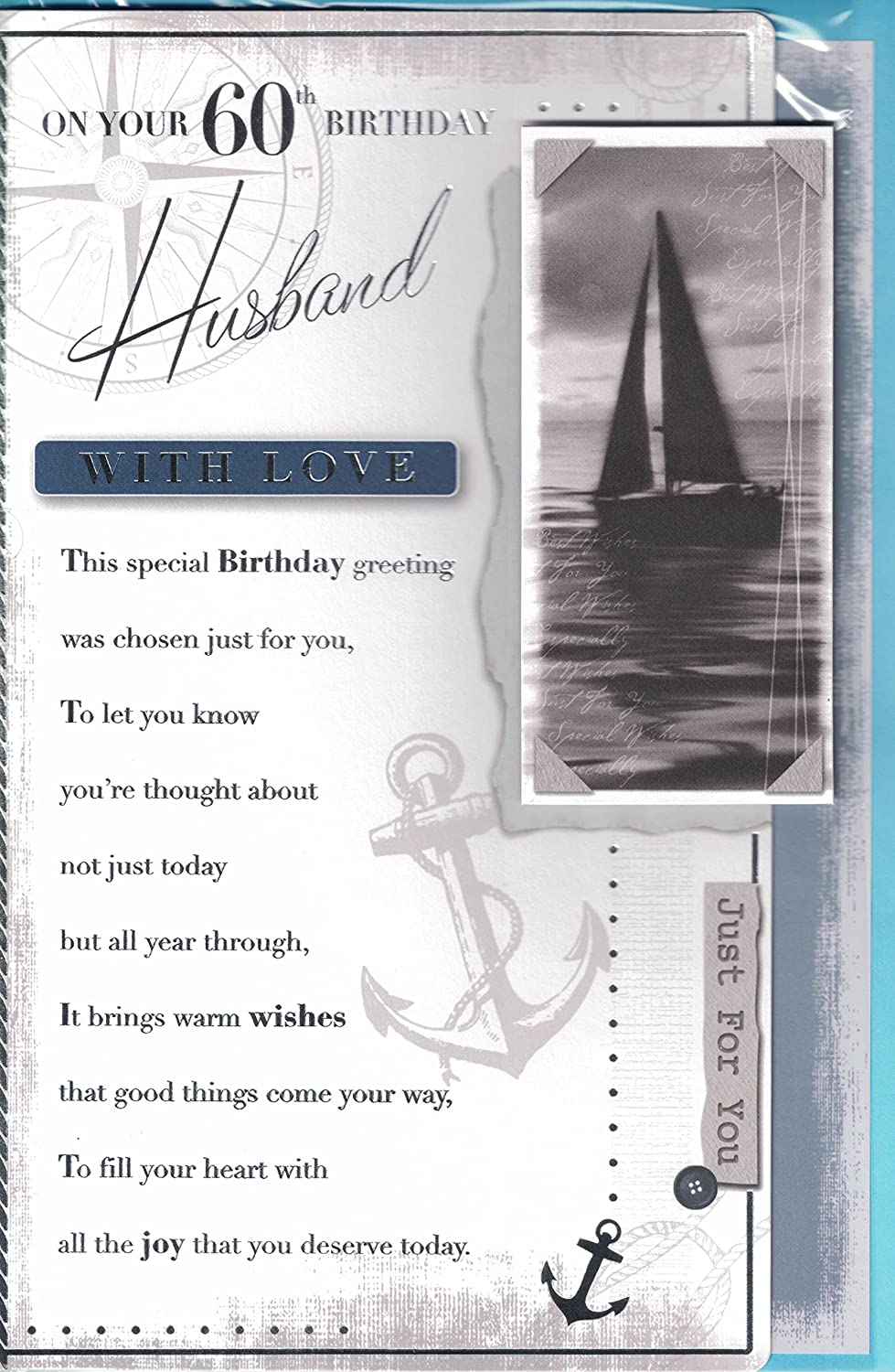 To my darling husband on your 60th birthday card beautiful verse to my darling husband on your 60th birthday card beautiful verse three fold card amazon kitchen home bookmarktalkfo Choice Image