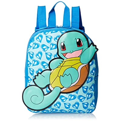 FAB Starpoint 10 Inch Mini Squirttle Backpack with Extension Tail, Aqua: Clothing