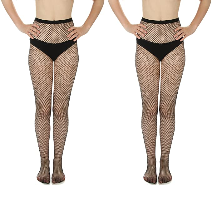 8075b243b4c5b Women's Fishnet Stockings, Multi Pack (Style B, 2) at Amazon Women's  Clothing store: