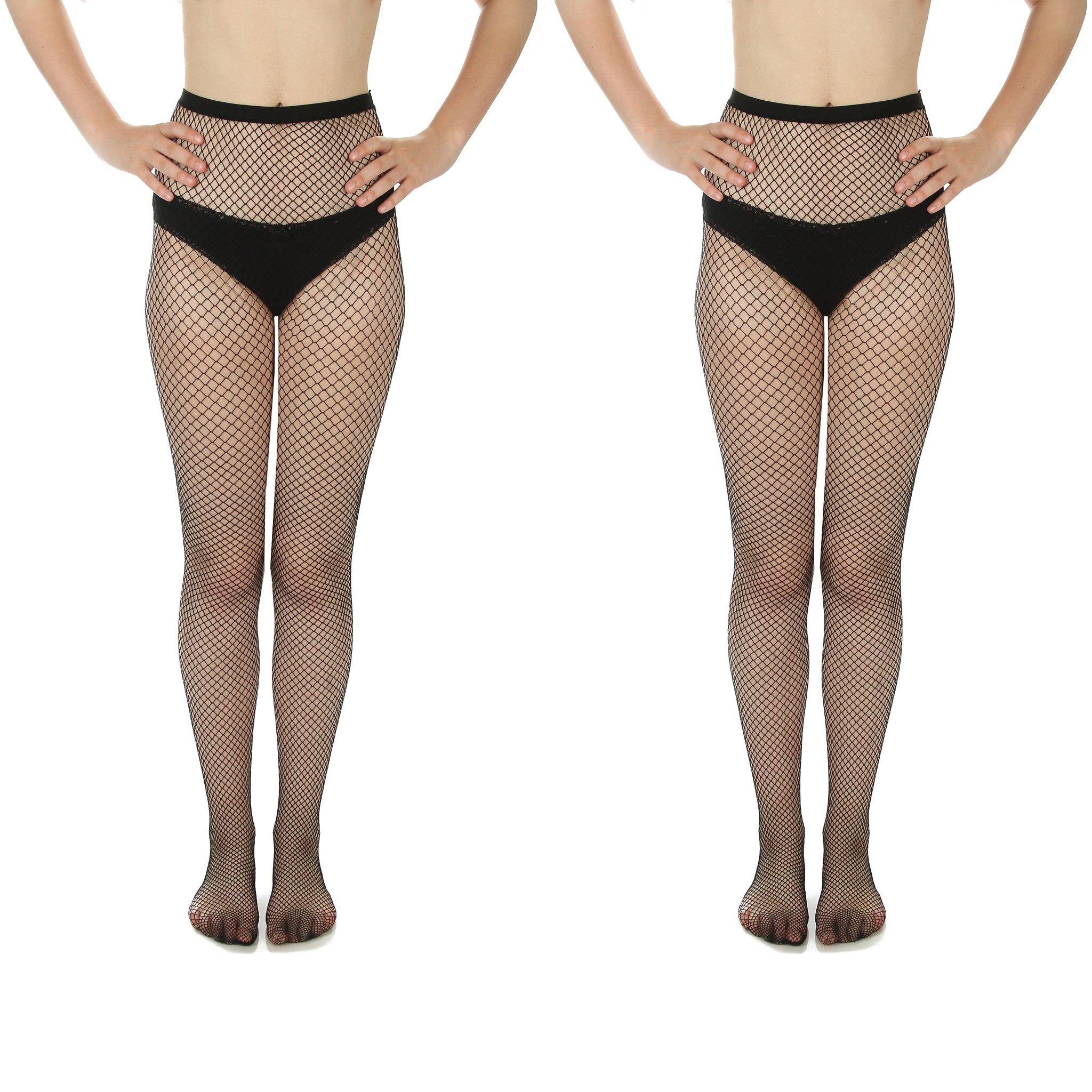 Women's Fishnet Stockings, Multi Pack (Style B, 2)