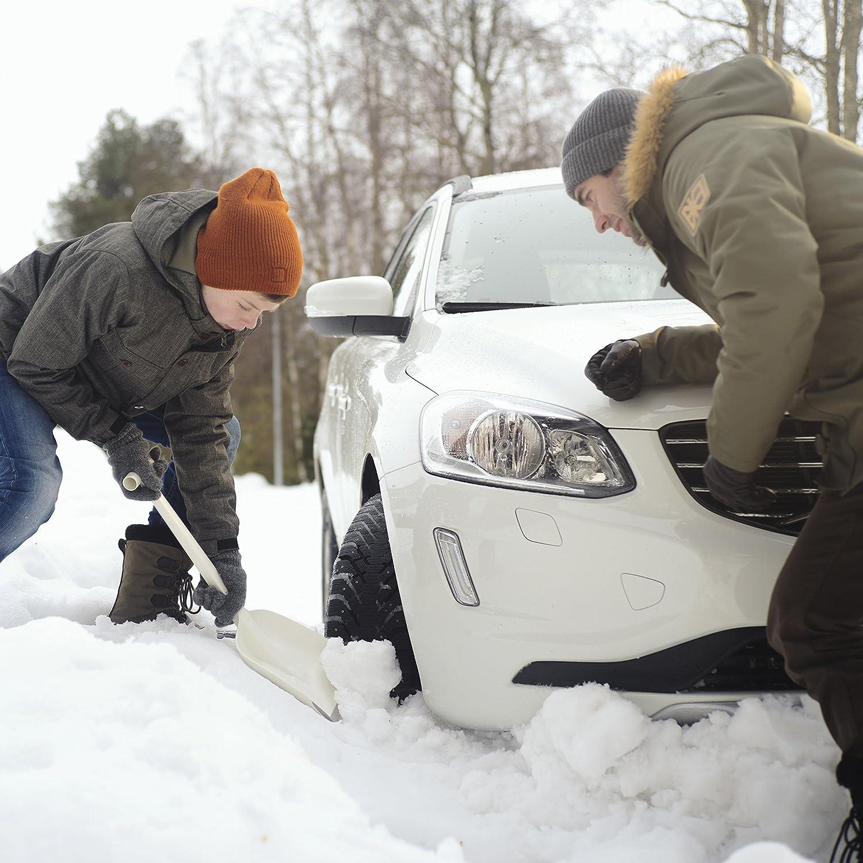 Longueur: 21,5 cm Fiskars Grattoir /à glace pour voiture Solid Utilisation dans les 2 sens 1019354 Plastique Noir//Orange