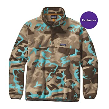 626cdb67eb232 Patagonia Synchilla Snap-T Fleece Pullover - Mens Forest Camo: Howling  Turquoise, M