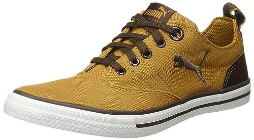 fdfaaf83254 Puma Unisex s Slyde Nu Idp Golden Chocolate Brown Sneakers-11 UK India (46