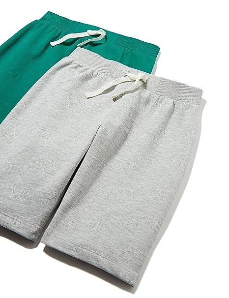 8bfd6cec95a171 RED WAGON Pantaloncini in Cotone Bambino (Pacco da 2), Grigio (Grey/plain),  146 (Taglia Produttore: 11 Anni): Amazon.it: Abbigliamento