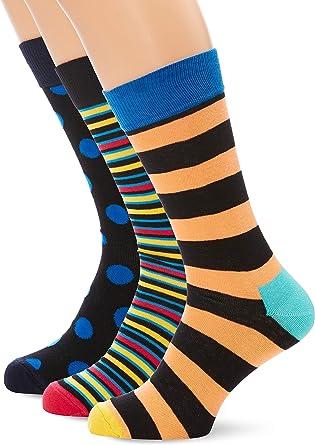 HS by Happy Socks Hs 3-pack Big Dot Gift Box Calcetines, Multicolor (Multicolour 200), 7-10 (Talla del fabricante: 41-46) (Pack de 3) para Hombre: Amazon.es: Ropa y accesorios