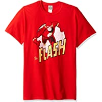 DC Comics JLA/Flash Logo-S/S Adult -Red-2x