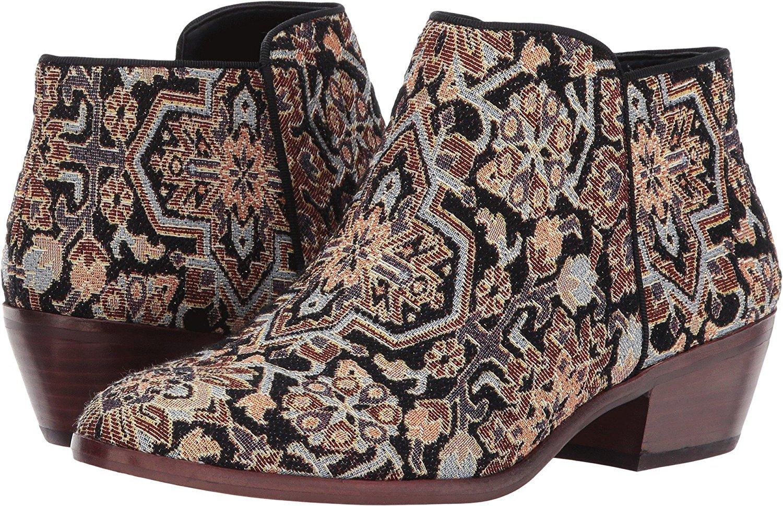 Sam Edelman Women's Petty Ankle Boot B01N4T712W 4.5 B(M) US|Black Faraj Tapestry Fabric
