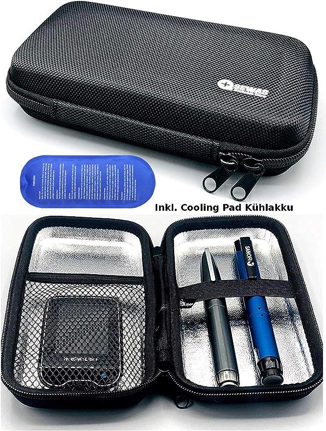 SEWAS Diabetic Care - Estuche rígido para diabéticos (bolsa de viaje, funda para insulina, funda para el cinturón): Amazon.es: Salud y cuidado personal