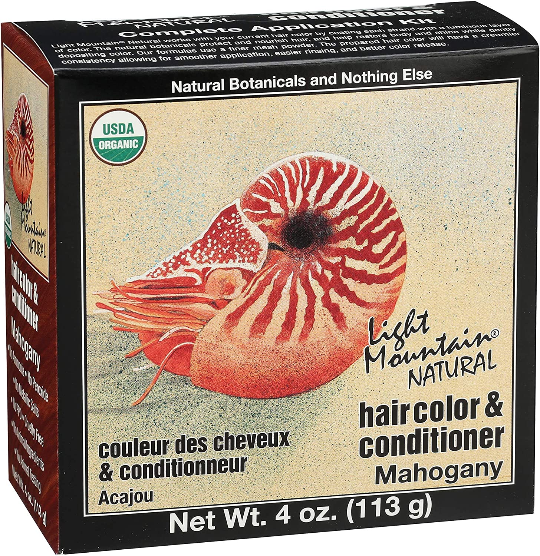LIGHT MOUNTAIN - Mahogany Hair Color Conditioner - 4 oz