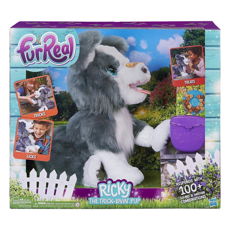 Fur Real Friends Ricky, el truco Lovin Interactivo de peluche de juguete para mascotas, más de 100 combinaciones de sonido y movimiento, 4 años en adelante: ...