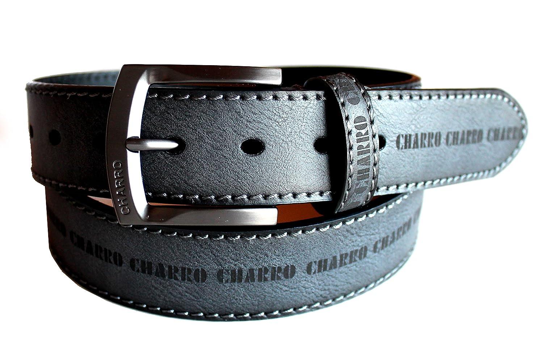 CHARRO cintura sportiva C2125 con logo laserato sintetico fodera pelle in confezione regalo