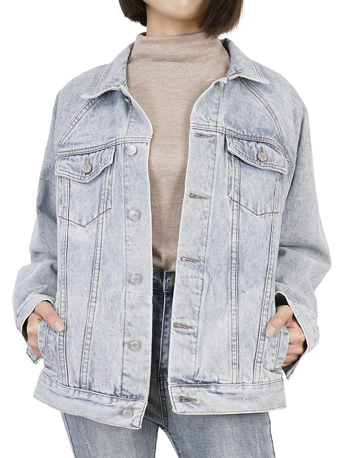 Dylh Junior S Personalized Boyfriend Denim Jacket Casual Jean Coat